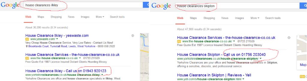 Google phone numbers